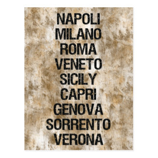Cities of Italy Postcards
