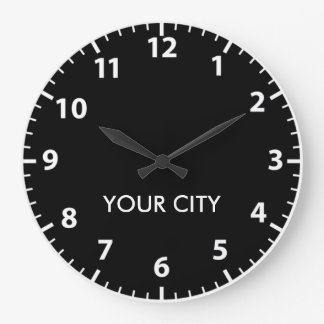 Cities of the world (Light Numbers) Wallclock