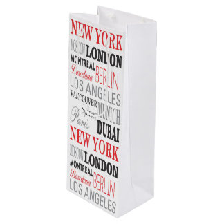 Cities off the world - Bag gift wine Wine Gift Bag