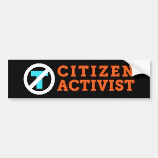 Citizen Activist Anti-Trump Black Bumper Sticker