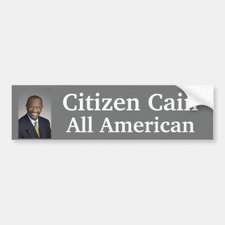 Citizen Cain is All American Bumper Sticker