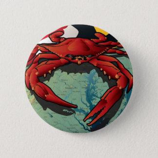 Citizen Crab of Maryland 6 Cm Round Badge
