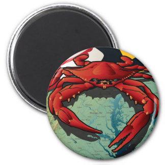 Citizen Crab of Maryland 6 Cm Round Magnet