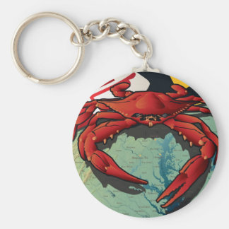 Citizen Crab of Maryland Key Ring