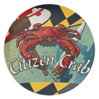 Citizen Crab of Maryland Plate