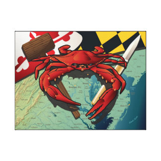 Citizen Crab with mallet and knife Canvas Prints