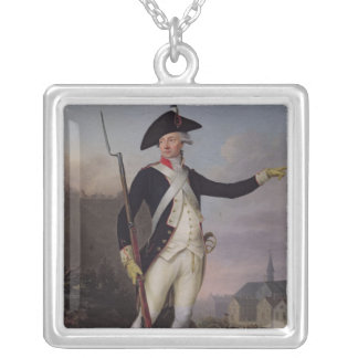 Citizen Nau-Deville in National Guard Uniform Silver Plated Necklace