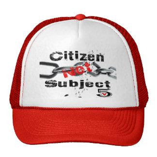 Citizen not Subject Cap