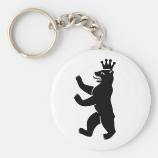 Citizen of Berlin bear Basic Round Button Key Ring