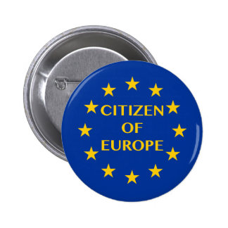 Citizen of Europe 6 Cm Round Badge