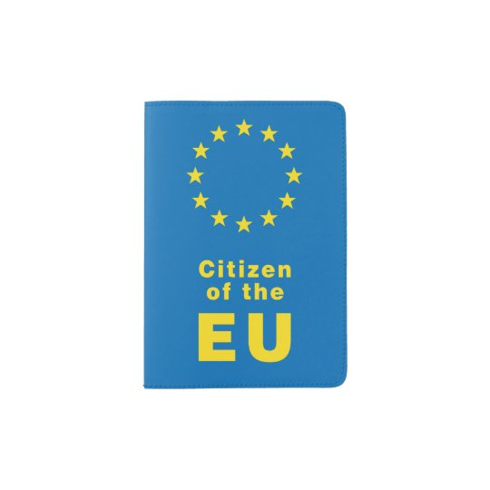 Citizen of the EU Passport cover