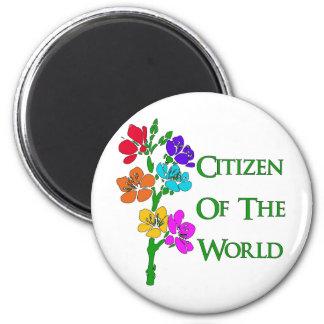 Citizen of the World 6 Cm Round Magnet