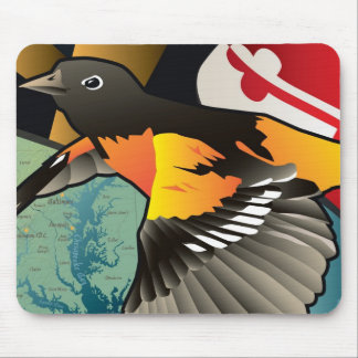 Citizen Oriole, Maryland's State Bird Mouse Mat