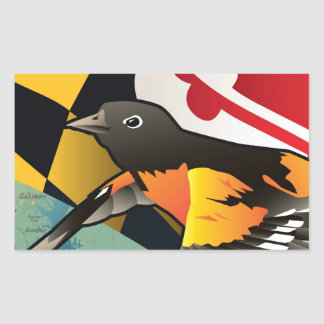 Citizen Oriole, Maryland's State Bird Rectangular Sticker
