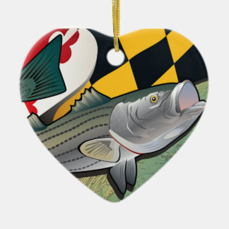Citizen Rockfish of Maryland Christmas Ornament