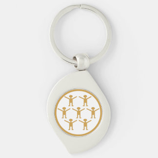Citizen science! who need a postgrad degree?! Silver-Colored swirl key ring