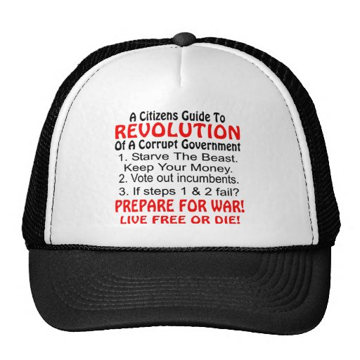 Citizens Guide To Revolution Of Corrupt Government Mesh Hats