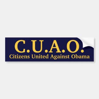 Citizens United Against Obama Bumper Sticker