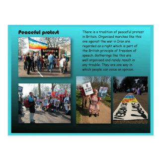 Citizenship, Social Studies, Peaceful Protest Postcard