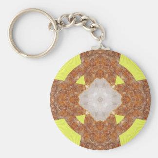 Citrine Cross Design! Key Ring