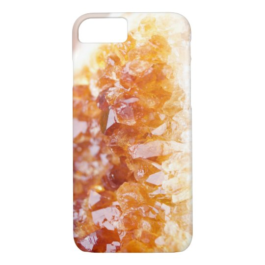 Citrine Crystal Phone Case, Crystal Photography iPhone 8/7