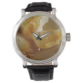 Citrine Gemstone Photo Watch