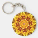 Citrine Kaleidoscope Keychain