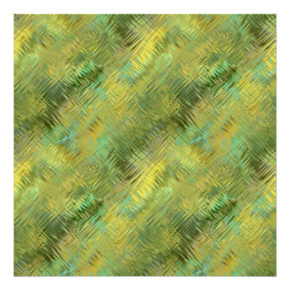 Citrine Yellow Glassy Texture Poster