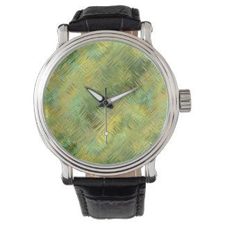 Citrine Yellow Glassy Texture Watch