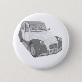 Citroen 2CV6 Charleston 6 Cm Round Badge