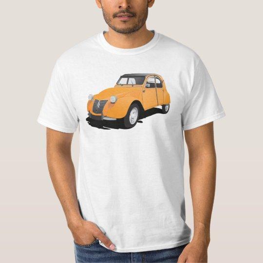 Citroën 2CV (deux chevaux), orange T-Shirt