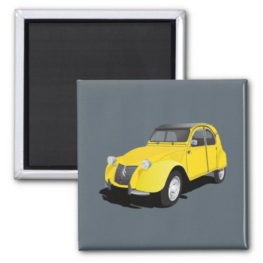 Citroën 2CV (deux chevaux) yellow Magnet