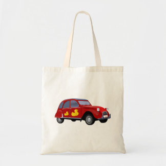 Citroen 2CV duck Budget Tote Bag