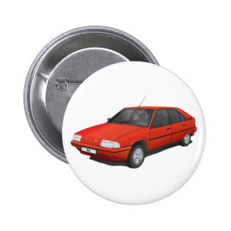 Citroën BX red 6 Cm Round Badge