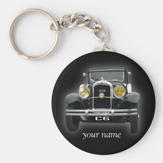 Citroen c6 1930 basic round button key ring