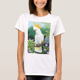 Citron Cockatoo Ladies Babydoll T-Shirt