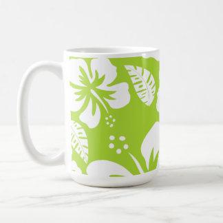 Citron Green Tropical Hibiscus Coffee Mug
