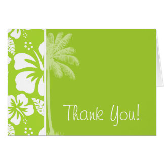 Citron Green Tropical Hibiscus; Summer Palm Card