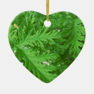 Citronella Plant Texture Christmas Tree Ornaments