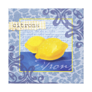 Citrons/Lemons Wall Decor Canvas Print