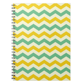 Citrus and Lime Chevron Zigzags Yellow Green Notebooks
