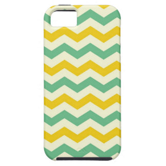 Citrus and Lime Chevron Zigzags Yellow Green Tough iPhone 5 Case