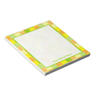 Citrus Blocks Personalized Notepad