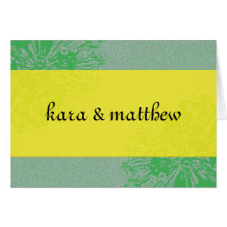 Citrus Blossom Save the Date Greeting Card