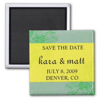 Citrus Blossom Save the Date Square Magnet