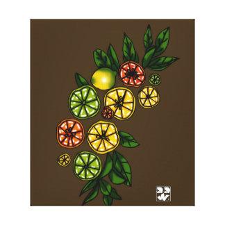 Citrus Bow Canvas Print