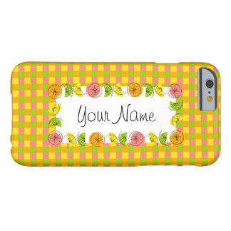 Citrus Check Name horizontal iPhone 6 case