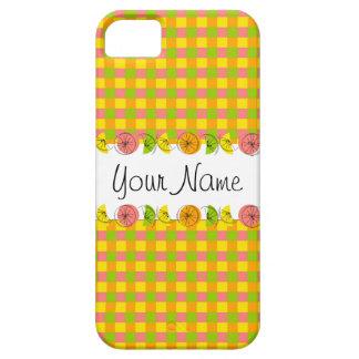 Citrus Check 'Name' iPhone 5 case vertical