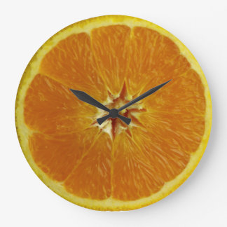 Citrus Chronometer: a daily reminder to eat fruit Large Clock