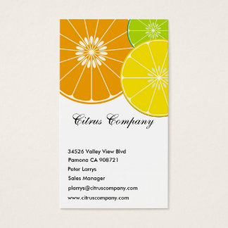 Citrus Company Business Card